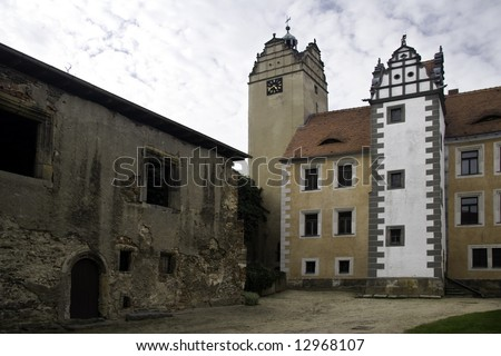 Palace Strehla - stock photo