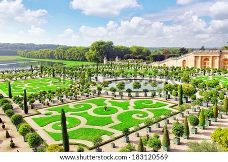 Palace Versailles, Royal Orangery.Paris, France.  - stock photo