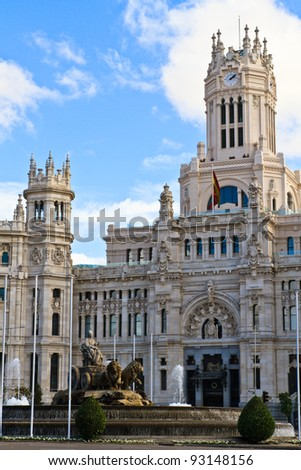 Palacio de Cibeles, Madrid, Spain - stock photo