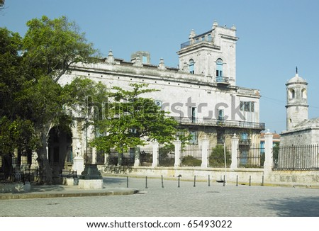 Palacio del Segundo Cabo (Instituto Cubano del Libro), Plaza de Armas, Old Havana, Cuba - stock photo