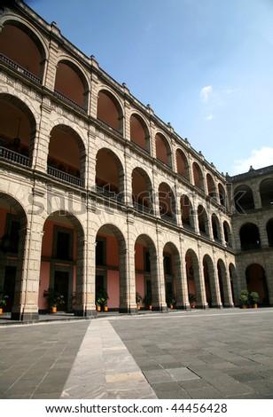 Palacio Nacional de Mexico (National Palace, Mexico) - stock photo