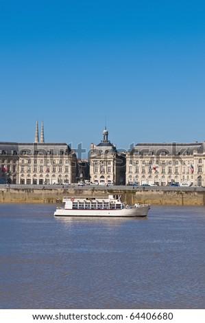 Palais de la Bourse located at Bordeaux, France - stock photo