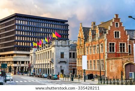 Palais des beaux arts in Brussels, Belgium - stock photo