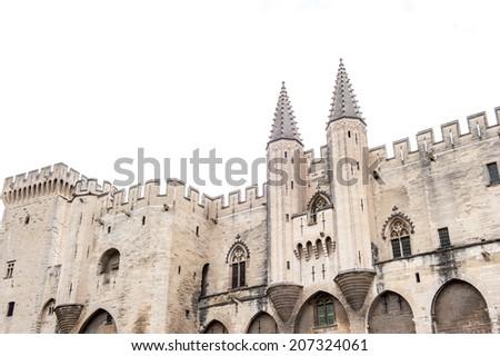 Palais des papes in Avignon - stock photo