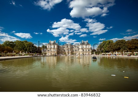 Palais du Luxembourg, Paris, France. Luxembourg palace - stock photo