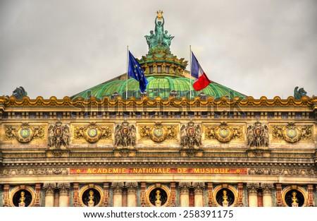 Palais Garnier, a famous opera house in Paris, France - stock photo