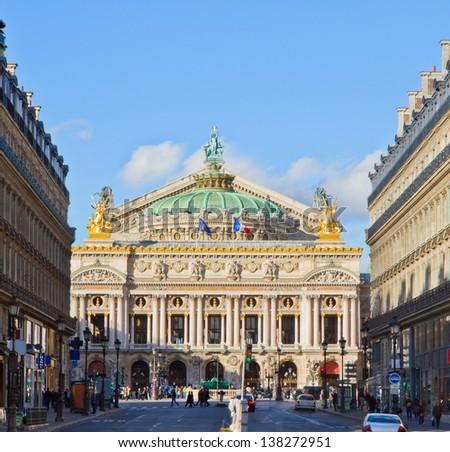 Palais Garnier  - opera house of Paris, France - stock photo