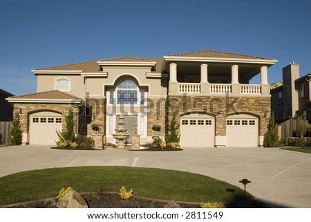 Palatial home in Northern California gated development - stock photo
