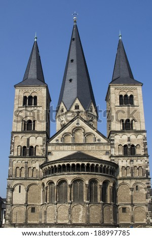 Palatine Chapel in Bonn, Germany - stock photo