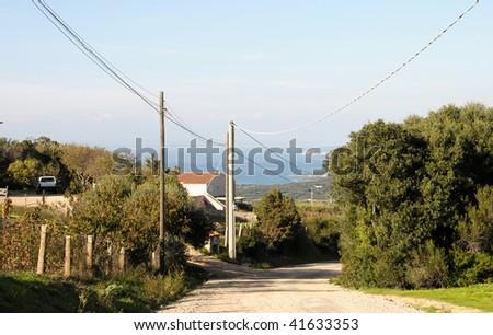 Palau view ,Sardinia Italy - stock photo