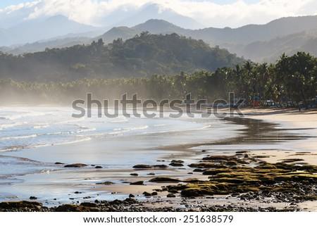Palawan beach, by the Undergorund River, Philippines - stock photo