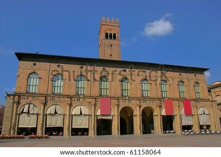 Palazzo del Podesta, Bologna, Italy - stock photo