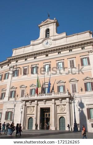 Palazzo di Montecitorio, Roma - stock photo