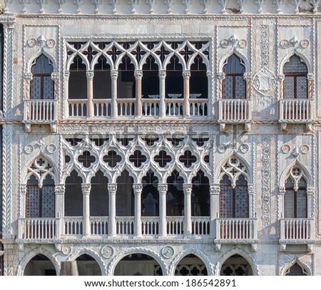 Palazzo Santa Sofia known as Golden House (Ca' d'Oro) - Venice, Italy - stock photo