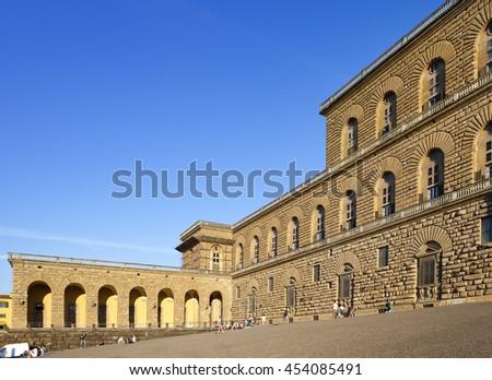 Palazzo Strozzi - Florence ,Italy - stock photo