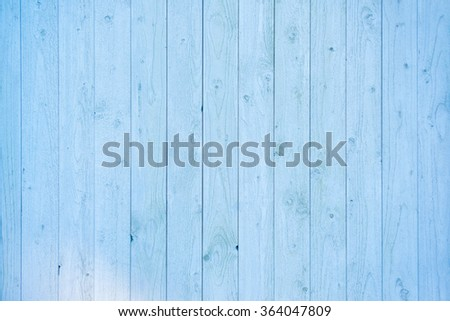 Pale blue wood plank surface texture, wooden board copy space - stock photo