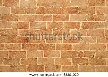 Pale brick wall - stock photo