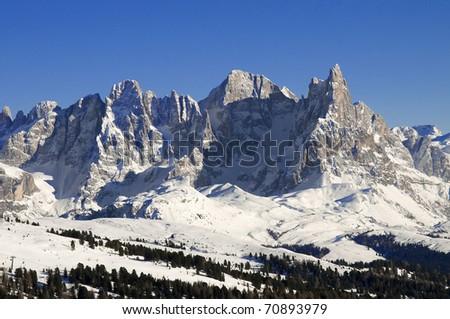 Pale di San Martino,Dolomiti mountains,Trentino Alto Adige,Italy - stock photo