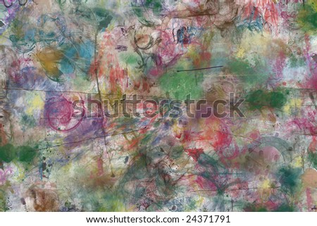 pale, multi-coloured, art background
