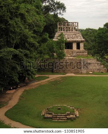 Palenque pyramids, Mexico - stock photo