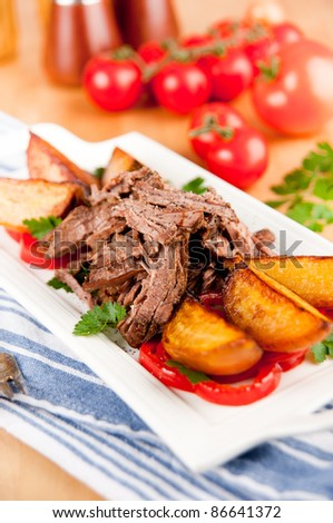 Paleo Style Dinner with Pulled Beef and Grilled Orange Beets