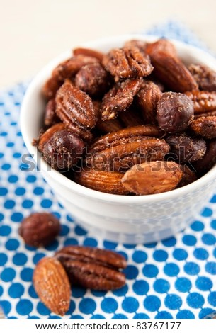 Paleo Style Sweet and Spicy Nut Mix - stock photo