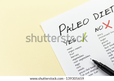 Paleolithic Diet Food List - stock photo