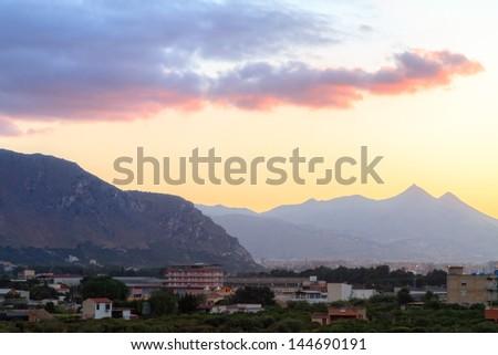 Palermo Bay Sunset - stock photo