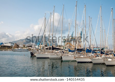 Palermo - Harbor in evening