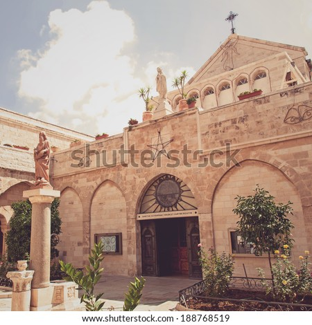 Palestine. The city of Bethlehem. The Church of the Nativity of Jesus Christ - stock photo