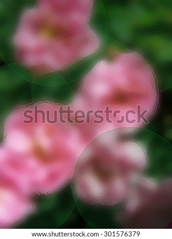 Palette edges Floral - abstract art - stock photo