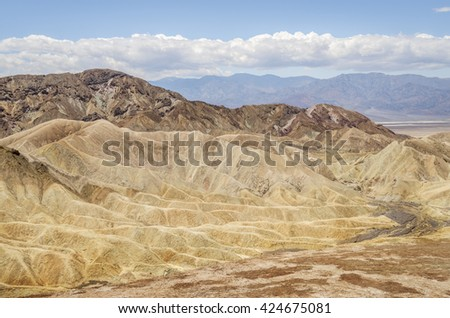 Palette of color, Death Valley National Park nature mountain travel nature mountain, US travel, amazing nature, desert colorful nature, amazing travel nature landscape - stock photo