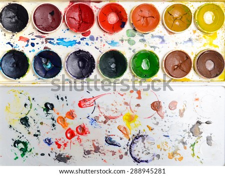 palette of colors - stock photo