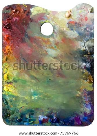 palette on white  background - stock photo