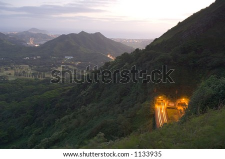 Pali Lookout - stock photo