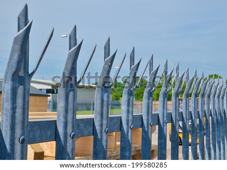 Palisade Security Fence - stock photo