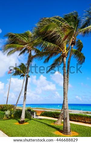 Palm Beach beach coastline in Florida USA - stock photo
