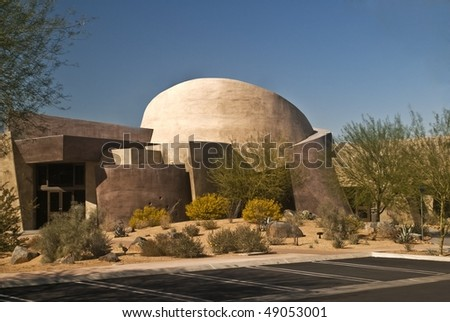 Palm Desert Chamber of Commerce Building near Palm Springs, California - stock photo