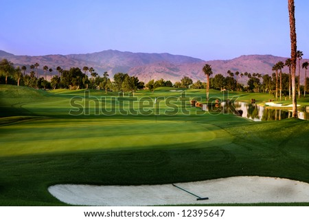 Palm Desert Golf - stock photo