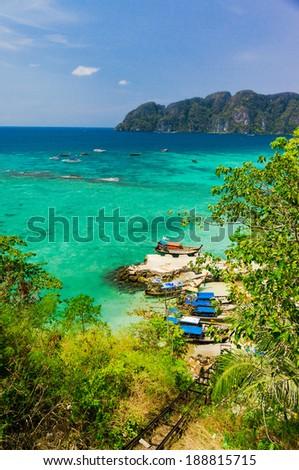 Palm Island Azure Bay  - stock photo