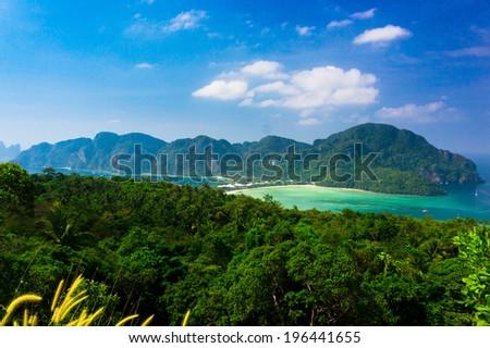 Palm Island Scenic  Holidays  - stock photo