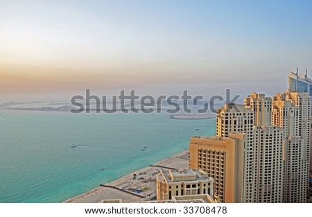 Palm Jumeirah Island - stock photo
