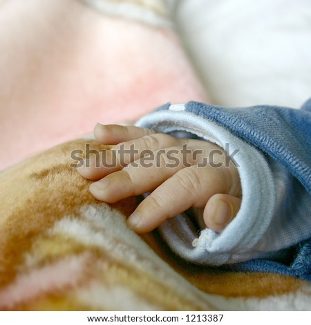palm of a baby, close up - stock photo