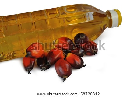 Palm Oil with Cooking Oil - stock photo