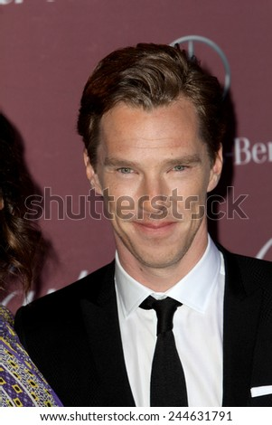 PALM SPRINGS, CA - JAN 3: Benedict Cumberbatch arrives at the 2015 Palm Springs International Film Festival Awards Gala at the Palm Springs Convention Center on January 3, 2015 in Palm Springs, CA. - stock photo