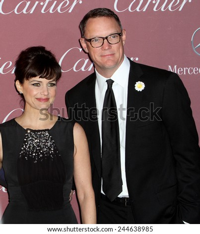 PALM SPRINGS, CA - JAN 3: Carla Gugino and Matthew Lillard arrive at the 2015 Palm Springs Film Festival Awards Gala at the Palm Springs Convention Center on January 3, 2015 in Palm Springs, CA. - stock photo