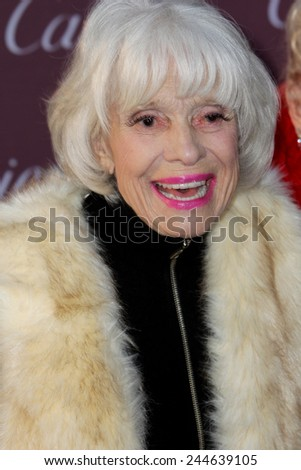 PALM SPRINGS, CA - JAN 3: Carol Channing arrives at the 2015 Palm Springs International Film Festival Awards Gala at the Palm Springs Convention Center on January 3, 2015 in Palm Springs, CA. - stock photo
