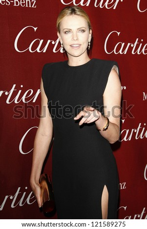PALM SPRINGS, CA - JAN 7: Charlize Theron at the 23rd Annual Palm Springs International Film Festival Awards Gala at the Palm Springs Convention Center on January 7, 2012 in Palm Springs, California - stock photo