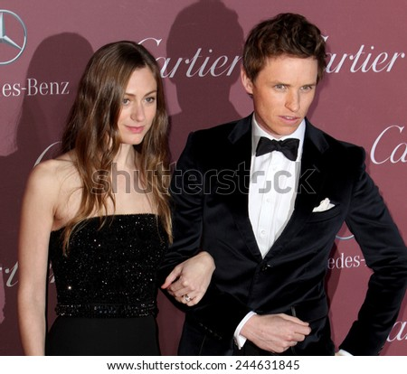 PALM SPRINGS, CA - JAN 3: Eddie Redmayne and Hannah Bagshawe arrive at the 2015 Palm Springs Film Festival Awards Gala at the Palm Springs Convention Center on January 3, 2015 in Palm Springs, CA. - stock photo