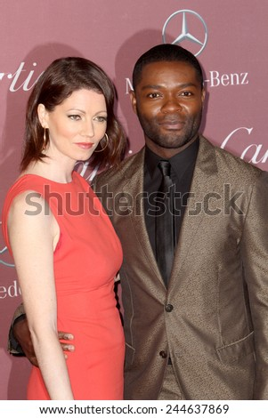 PALM SPRINGS, CA - JAN 3: Jessica and David Oyelowo arrives at the 2015 Palm Springs International Film Festival Gala at the Palm Springs Convention Center on January 3, 2015 in Palm Springs, CA. - stock photo